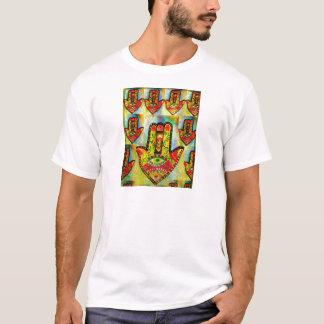 T-shirt Art abstrait de main de Hamsa