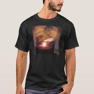 T-shirt Art abstrait de reptile d'alligator
