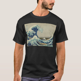 T-shirt Art asiatique - la grande vague outre de Kanagawa