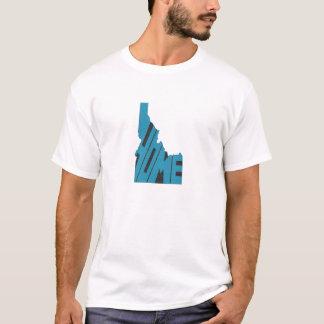 T-shirt Art bleu de mot de l'État d'origine de l'Idaho