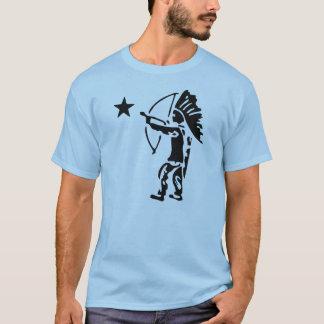 T-shirt Art de bruit indien de tir à l'arc d'étoile du