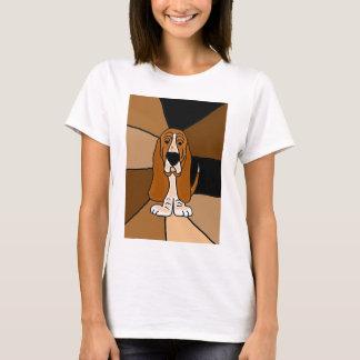 T-shirt Art de chien de Basset Hound