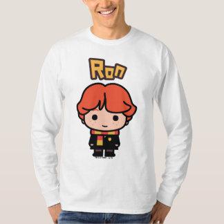 T-shirt Art de personnage de dessin animé de Ron Weasley