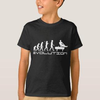 T-shirt Art d'évolution de sport de cheval de pommeau de