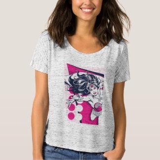 T-shirt Art fascinant de caractère de femme de merveille