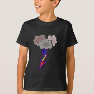 T-shirt Art impressionnant de nuages et de foudre d'orage