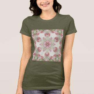 T-shirt Art rose 5 de kaléidoscope de chrysanthèmes