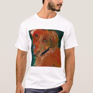T-shirt Art tonal Zach de chien de pièce en t de rayure