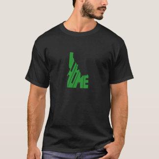 T-shirt Art vert de mot de l'État d'origine de l'Idaho