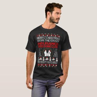 T-shirt Assurance de Joyeux Noël traitant le commis laid