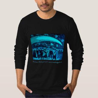 T-shirt Astronomie vintage - grande comète de la gravure