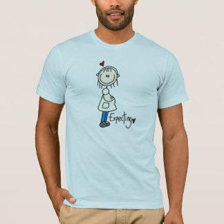 T-shirt Attendre une chemise de bébé