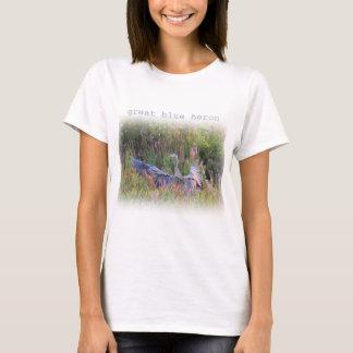 T-shirt Atterrissage de héron de grand bleu