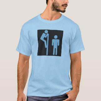 T-shirt Au-dessus des toilettes de public de voyeur de