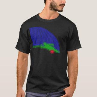 T-shirt au néon de jet de skieur de l'eau de