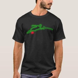 T-shirt au néon vert de skieur de l'eau de slalom