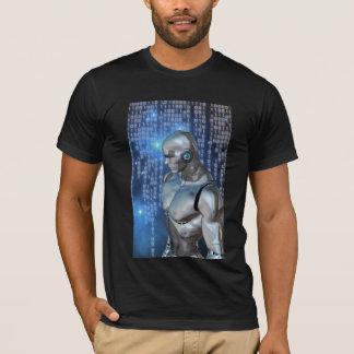 T-shirt Au sol de dos de binaire de cyborg