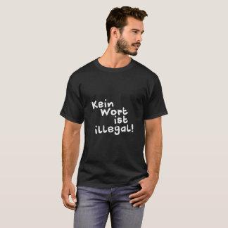 T-shirt Aucun mot n'est illégal !  Chemise