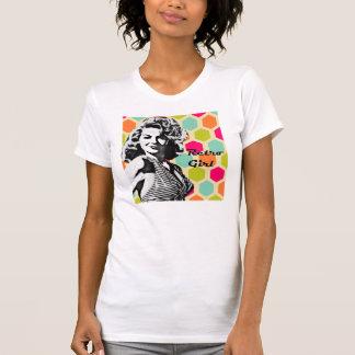 T-shirt audacieux de cheveux de rétro fille