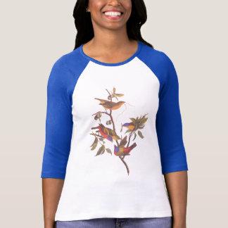 T-shirt Audubon a peint des oiseaux d'étamine est prunier