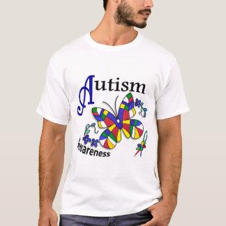 T-shirt Autisme du papillon 2 en verre souillé