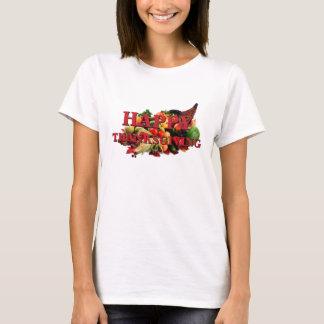 T-shirt Automne de corne d'abondance de récolte d'automne