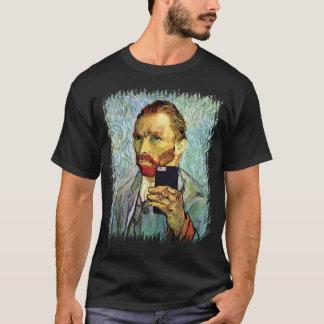 T-shirt Autoportrait de Selfie de portable de Vincent van