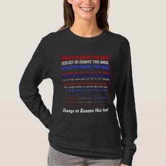 T-shirt Avant de femmes d'obscurité d'habillement
