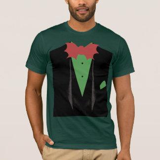 T-shirt Avant vert de smoking avec la batte rouge géante
