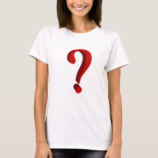 T-shirt avec le signe de question