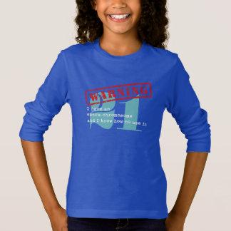 T-shirt Avertissement mignon de syndrome de Down