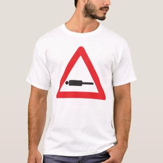 T-shirt Avertissement : Planking en avant