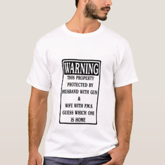 T-shirt Avertissement, propriété protégée