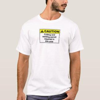 T-shirt Avertissements de soudure
