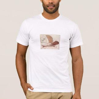 T-shirt avions de Léonard de Vinci
