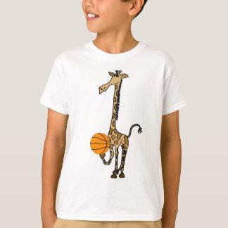 T-shirt AW girafe avec une chemise de basket-ball