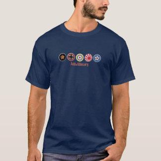 T-shirt Axe et marqueurs de pays d'Allies.org (bleus)