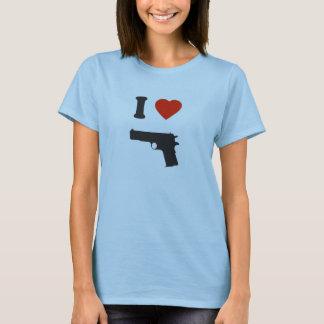 T-shirt  Baby Doll pour femmes i love gun