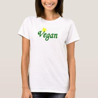 T-shirt Babydoll végétalien de logo