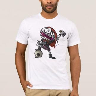 T-shirt BadSadGirls - tête en métal