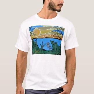 T-shirt Baie bleue de héron