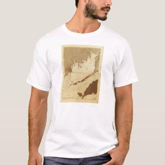 T-shirt Baie de buses et carte saine de Massachusetts de