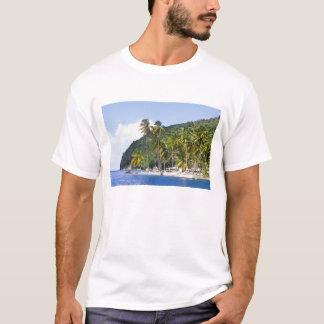 T-shirt Baie de Marigot, St Lucia, des Caraïbes