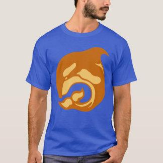 T-shirt baleine orange brûlée d'orque