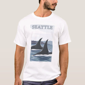 T-shirt Baleines #1 - Seattle, Washington d'orque