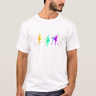 T-shirt Ballet d'arc-en-ciel