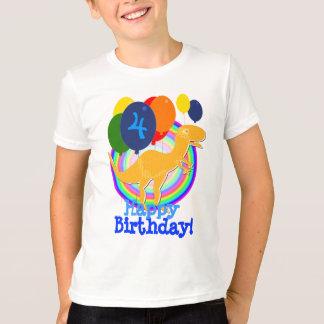 T-shirt Ballons mignons d'anniversaire de dinosaure de