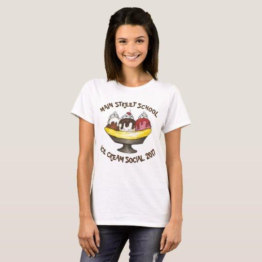 T-shirt Banana split social personnalisé de partie de