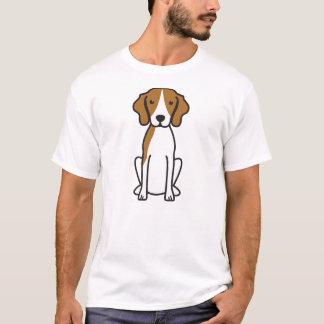 T-shirt Bande dessinée de chien de Coonhound de marcheur
