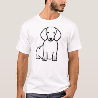 T-shirt Bande dessinée de chien de teckel